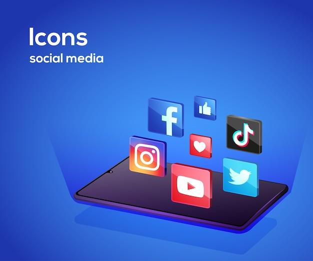 Social media platform illustrations