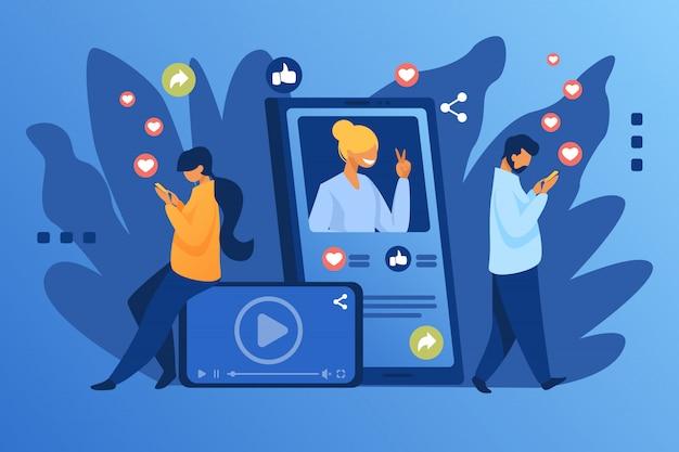 소셜 미디어 인기