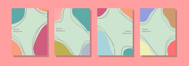 Social media post background template, abstract design and pastel colors