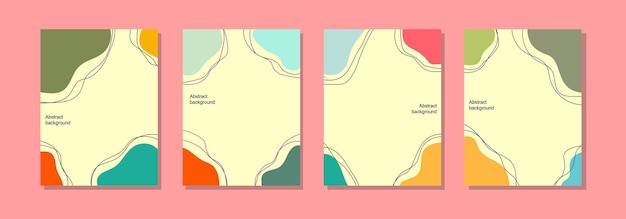 Social media post background template, abstract design and summer colors