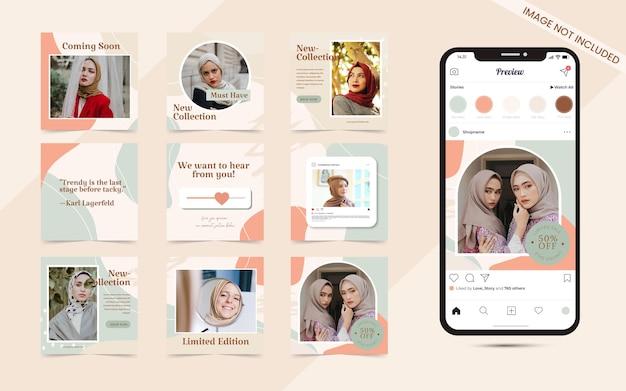 Баннер для публикации в социальных сетях для продвижения продаж моды в instagram