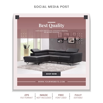 Social media post collection for furniture sale