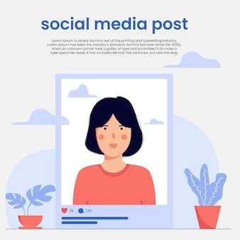 Социальные медиа пост концепции фон