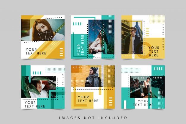Social media post design template collection