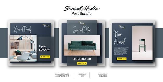 Social media post design template for promotion