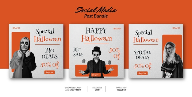 Social media post design template for promotion