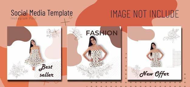 ソーシャルメディアポストファッションテンプレートミッドセンチュリー