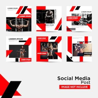 디지털 마케팅 템플릿을위한 소셜 미디어 게시물