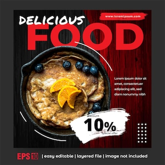 음식 홍보를 위한 소셜 미디어 게시물