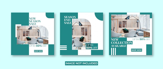 Social media post and instagram post template