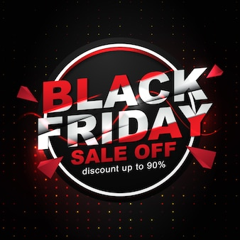 Social media post template for black friday event