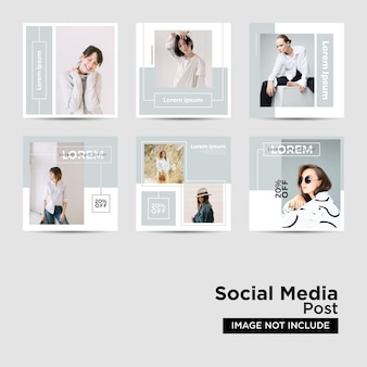 Social media post template collection