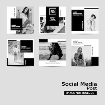 Коллекция шаблонов постов в социальных сетях