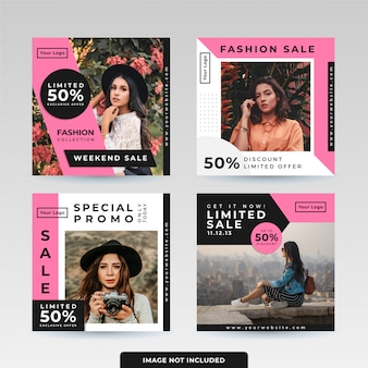 Social media post template design pack