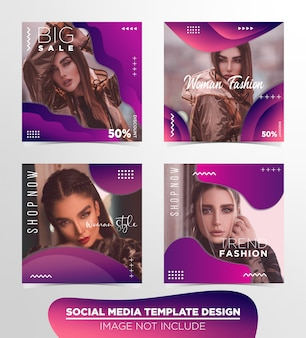 Social media post template design