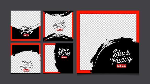 블랙 프라이데이 판매를 위한 소셜 미디어 게시물 템플릿