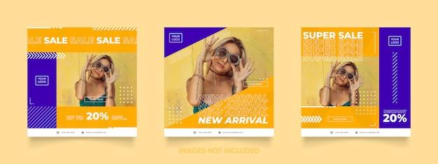 패션 판매를위한 소셜 미디어 게시물 템플릿