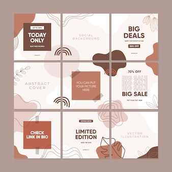 Social media post template for promotion sale
