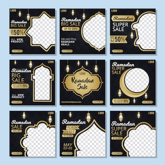 Social media post template ramadhan discount