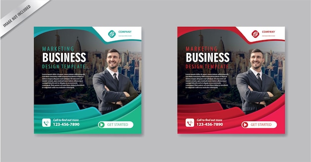 Social media post template square  layout for promotion marketing