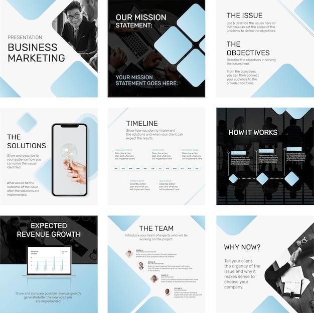 비즈니스 개념 소셜 미디어 게시물 템플릿