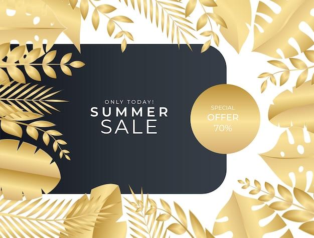 花と葉の要素を持つソーシャルメディアの投稿テンプレート。グリーティングカード、招待状、はがき、ファッションセールのエレガントなゴールドブラックの背景
