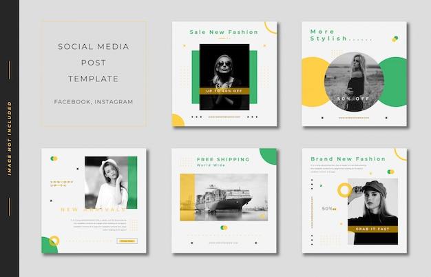 Social media post template