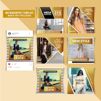 Social media post templates
