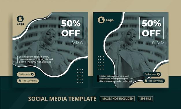 Social media posts template