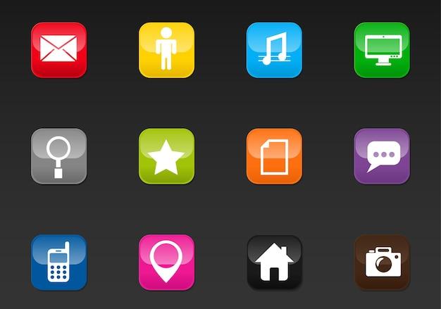 あなたのデザインのためのソーシャルメディアの専門家のウェブアイコン