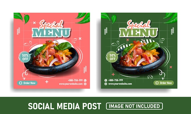 ソーシャルメディアのプロモーションとinstagramの投稿デザインテンプレート