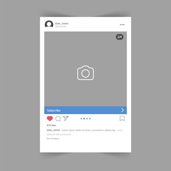 Social media promotional post on dark background