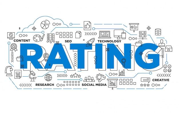 Social media rating iconic background