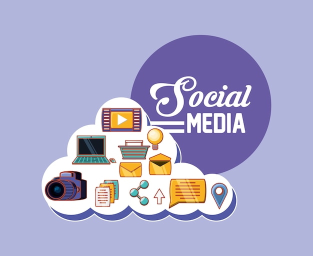 Social media related icons
