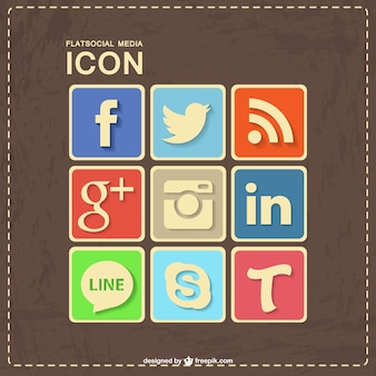 Social media design retrò in pelle