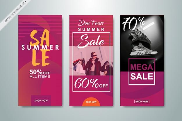 Social media sale banner background
