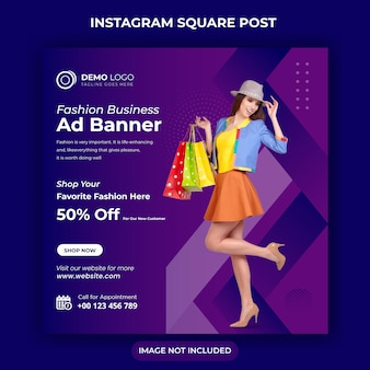 Social media sale banner for web and instagram post