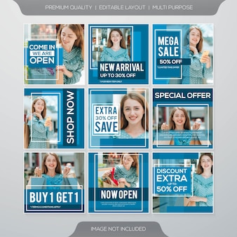 Social media sale post template