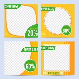 Social media sale promotion post template