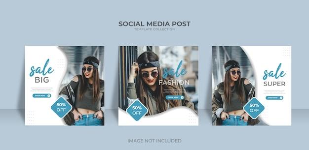 Social media sales marketing design and instagram post