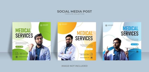 Social media service post medical healty