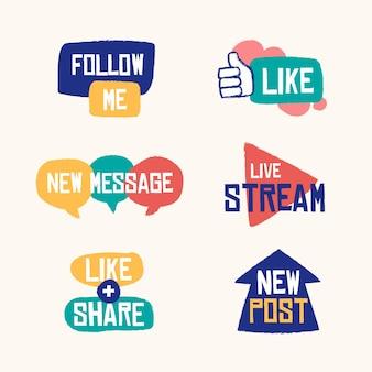 Социальные медиа сленг пузыри коллекция