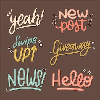 Social media slang bubbles set
