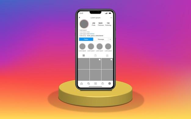 Шаблон смартфона в социальных сетях