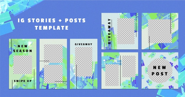 Social media stories and posts templates
