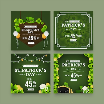 Social media stories for st. patrick day event