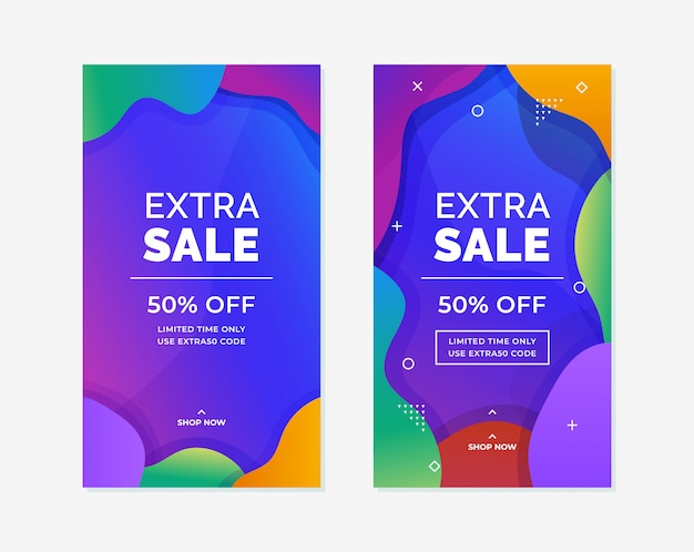 Social media story online product promotion vertical poster background template design.