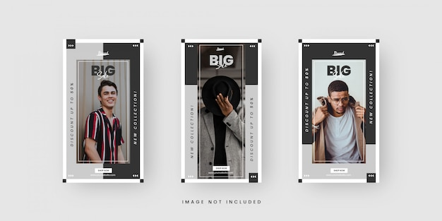 Social media story template for fashion