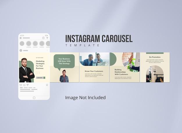 소셜 미디어 전략 instagram 회전 목마 게시물 템플릿