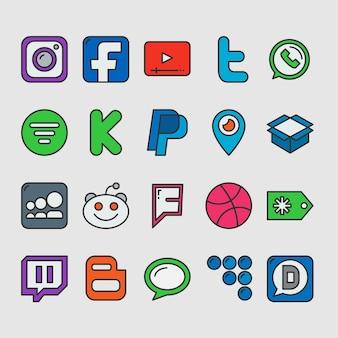 소셜 미디어 기호